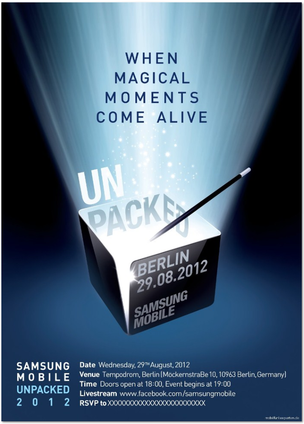 Convite da Samsung indica lançamentos dos novos aparelhos (Foto: Reprodução) (Foto: Convite da Samsung indica lançamentos dos novos aparelhos (Foto: Reprodução))