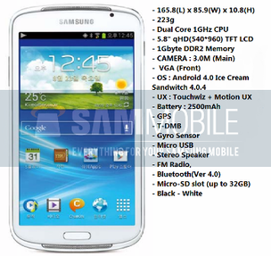 O novo Galaxy Player da Samsung com tela de 5,8 polegadas (Foto: Reprodução) (Foto: O novo Galaxy Player da Samsung com tela de 5,8 polegadas (Foto: Reprodução))