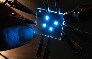 OLED emitindo luz azul (Foto: Reprodução) (Foto: OLED emitindo luz azul (Foto: Reprodução))