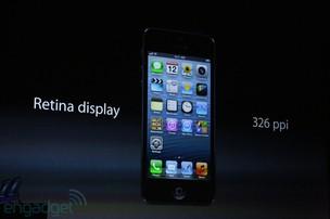 Retina Display vem na nova tela de 4 polegádas do iPhone 5 (Foto: Reprodução/Engadget)