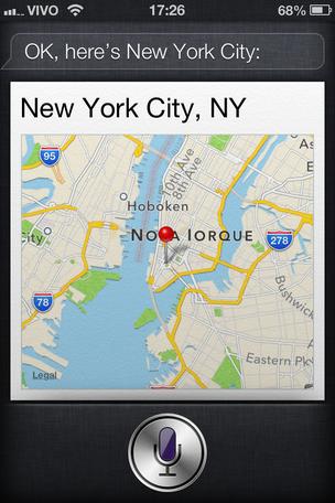 Mapas da Apple tem integração direta com o assistente Siri (Foto: TechTudo)