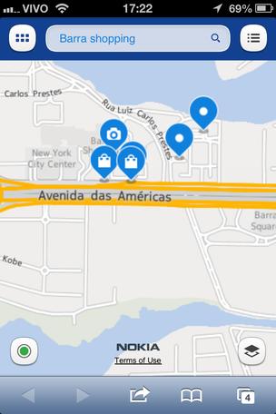 Mapas da Nokia têm informações sobre trânsito e estabelecimentos brasileiros (Foto: TechTudo)