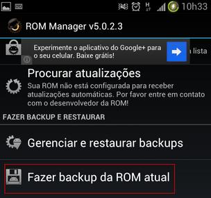 Gerando o arquivo de backup da ROM atual (Foto: Reprodução) (Foto: Gerando o arquivo de backup da ROM atual (Foto: Reprodução))