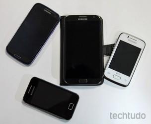 Samsung e sua linha de smartphones Galaxy (Foto: Marlon Câmara/TechTudo)