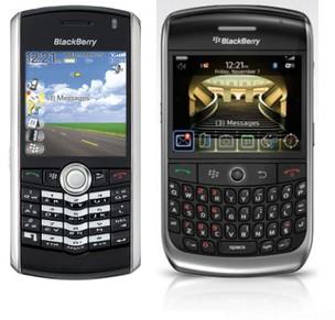 Blackberry Pearl e Curve, símbolos de sucesso da RIM (Foto: Divulgação) (Foto: Blackberry Pearl e Curve, símbolos de sucesso da RIM (Foto: Divulgação))