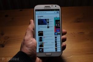 O Galaxy S4 terá design semelhante ao do tablet Note 8 (Foto: Reprodução/PocketInt) (Foto: O Galaxy S4 terá design semelhante ao do tablet Note 8 (Foto: Reprodução/PocketInt))