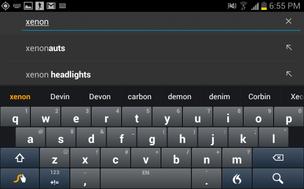 Teclado do Android dá sugestões de palavras (Foto: Reprodução/Cnet)