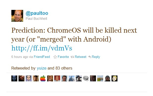 Fim do Chrome OS