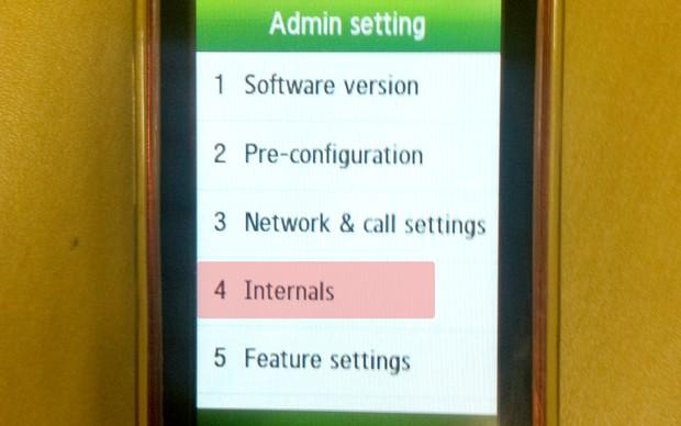 """Tela """"Admin Setting"""" (Foto: Reprodução/TechTudo)"""