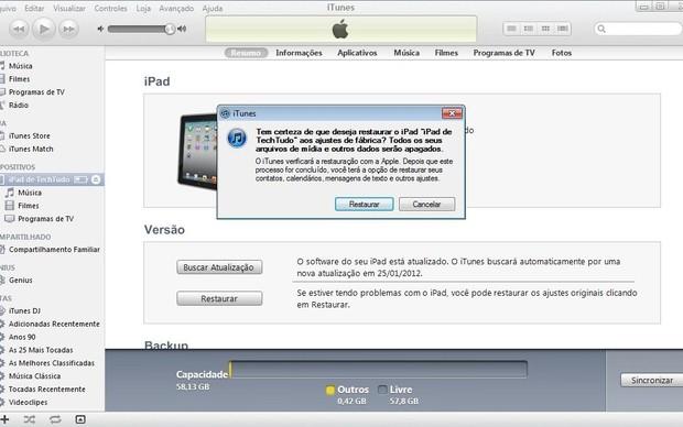 Restaure seu iPad ou iPhone às configurações de fábrica (Foto: Reprodução / Marlon Câmara)