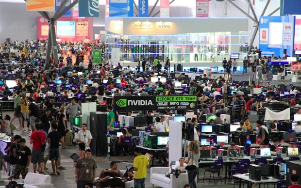 Visão geral da Campus Party (Foto: Rodrigo Bastos/TechTudo)