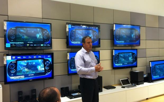 Glauco Rozner, Gerente Geral do PlayStation no Brasil em coletiva de imprensa (Foto: Glauco Rozner, Gerente Geral do PlayStation no Brasil em coletiva de imprensa)