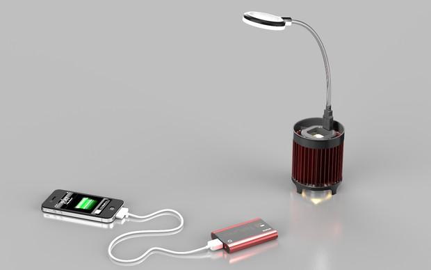 Pequeno gadget carrega smartphones apenas graças à luz (Foto: Reprodução) (Foto: Pequeno gadget carrega smartphones apenas graças à luz (Foto: Reprodução))
