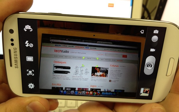 Interface da câmera do S III (Foto: TechTudo)