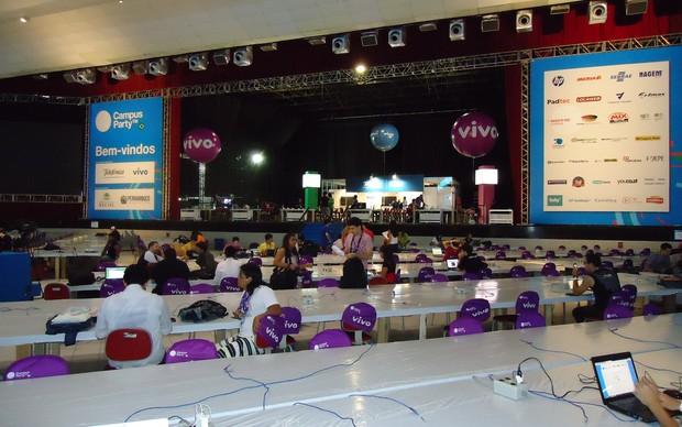 Campuseiros chegam mais cedo ao evento (Foto: Bernardo Cury / TechTudo)