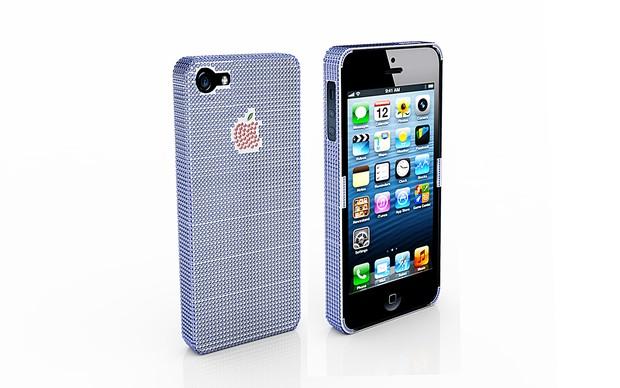 Case para iPhone 5 é coberto de pedras preciosas (Foto: Divulgação)