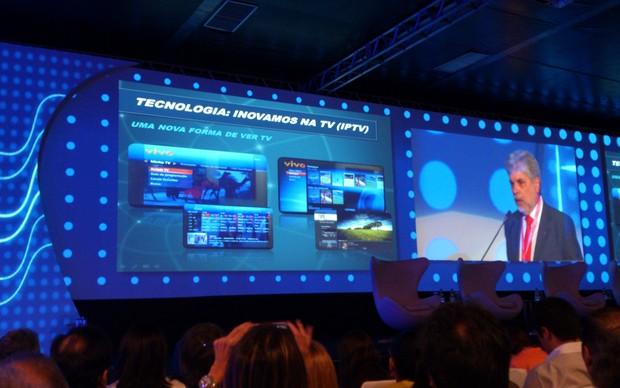 Vivo TV Fibra é apresentada na Futurecom 2012 (Foto: Allan Melo/Futurecom 2012)