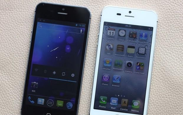 """Clone do iPhone 5, LeGuo, executa Android 4.0 com """"cara"""" de iOS (Foto: Reprodução) (Foto: Clone do iPhone 5, LeGuo, executa Android 4.0 com """"cara"""" de iOS (Foto: Reprodução))"""