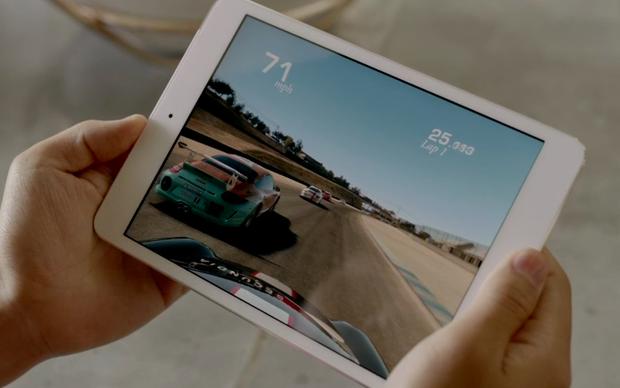 Game de carro rolando no novo iPad mini (Foto: Reprodução/Apple)