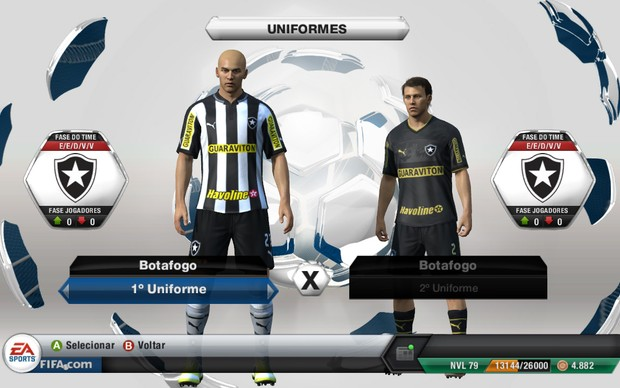 Botafogo receberá nomes e uniformes autênticos em Fifa 13 (Foto: Reprodução)