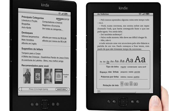 "Amazon Kindle ""brasileiro"" (Foto: Divulgação)"