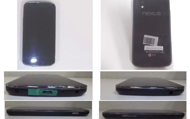 Fotos do Nexus 4 homologado aparecem no site da Anatel (Foto: Reprodução)