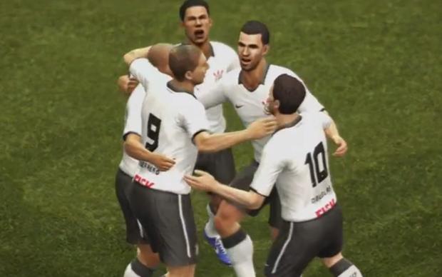 Corinthians leva a melhor contra o Chelesea nos games Fifa 13 e PES 2013 (Foto: Reprodução)