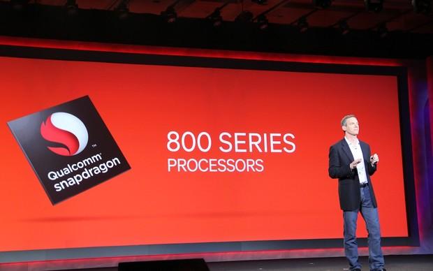 O executivo afirmou que o Snapdragon 800, que estará disponível no segundo semestre (Foto: TechTudo / Nick Ellis)