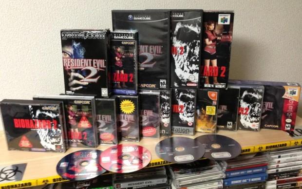 Uma coleção com todas as versões de Resident Evil 2 postada no Twitter do diretor do game, Hideki Kamiya (Reprodução|Twitter) (Foto: Uma coleção com todas as versões de Resident Evil 2 postada no Twitter do diretor do game, Hideki Kamiya (Reprodução|Twitter))