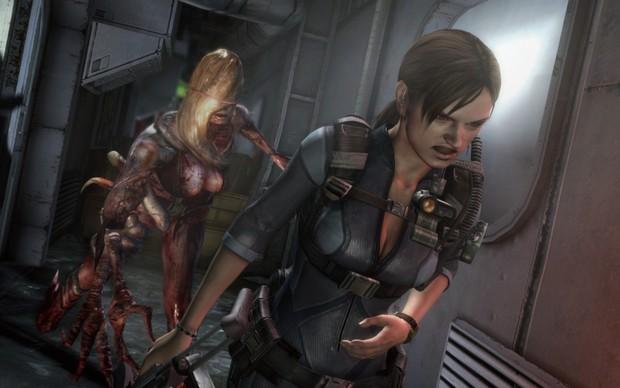 Jill Valentine foge da criatura Rachel na edição HD de Resident Evil: Revelations (Foto: Divulgação) (Foto: Jill Valentine foge da criatura Rachel na edição HD de Resident Evil: Revelations (Foto: Divulgação))