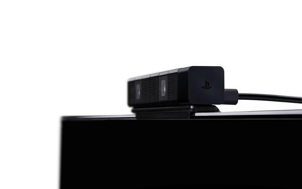 A nova câmera PlayStation 4 Eye pode ser presa ao topo da televisão (Foto: Divulgação) (Foto: A nova câmera PlayStation 4 Eye pode ser presa ao topo da televisão (Foto: Divulgação))