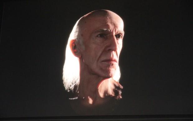 Poder gráfico em um módulo 3D de um idoso (Foto: Léo Torres/TechTudo)