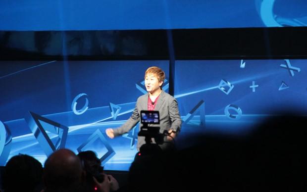Yoshinori Ono em seu discurso (Foto: TechTudo/Léo Torres)