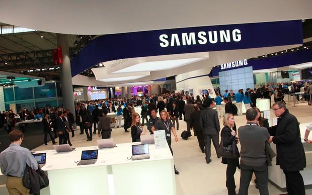 Estande da Samsung no MWC 2013 (Foto: Allan Melo/TechTudo)