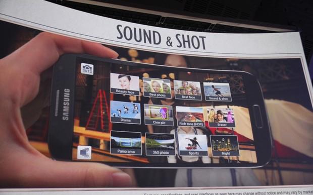 Sistema Sound and Shot permite ao usuário gravar por cinco segundos antes de tirar uma foto (Foto: Allan Melo/ TechTudo)