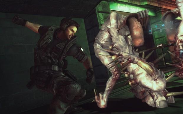 Chris Redfield usa os próprios punhos em Resident Evil: Revelations HD (Foto: Divulgação) (Foto: Chris Redfield usa os próprios punhos em Resident Evil: Revelations HD (Foto: Divulgação))