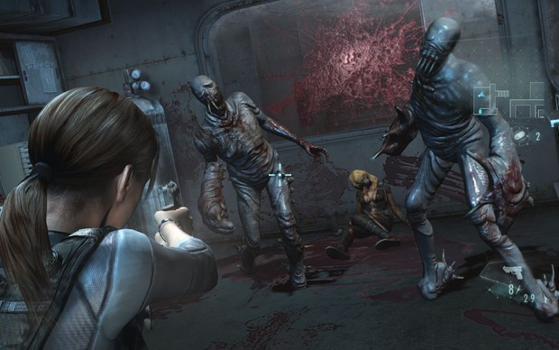 Jill Valentine encara monstros em Resident Evil: Revelations HD (Foto: Divulgação) (Foto: Jill Valentine encara monstros em Resident Evil: Revelations HD (Foto: Divulgação))