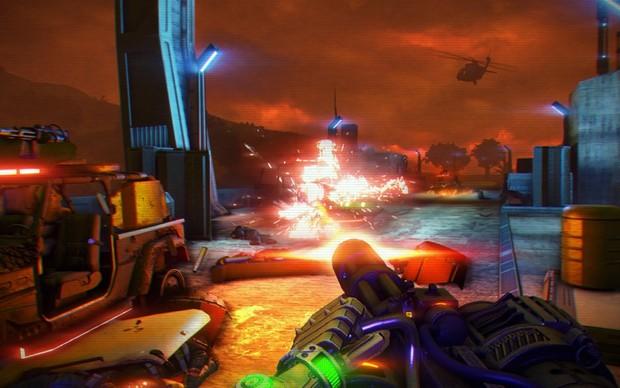 Far Cry 3: Blood Dragon promete violência e bom humor (Foto: Divulgação) (Foto: Far Cry 3: Blood Dragon promete violência e bom humor (Foto: Divulgação))