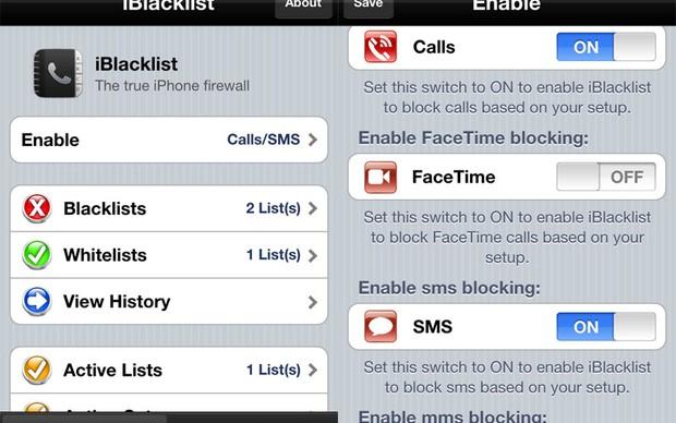 iBlackList bloqueia chamadas indesejadas no iOS com jailbreak (Foto: Divulgação)