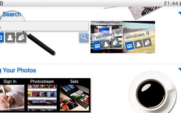 Flickr no PS Vita (Foto: Reprodução / TechTudo)