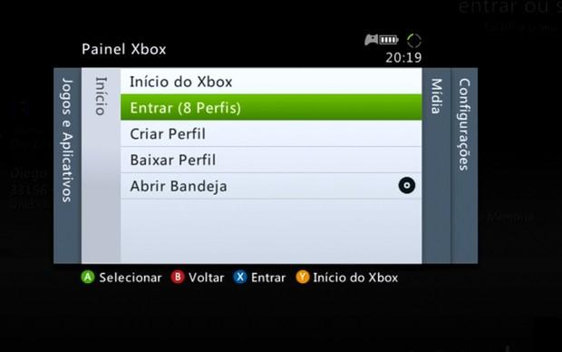 Entrando na Xbox Live (Foto: Reprodução / TechTudo)