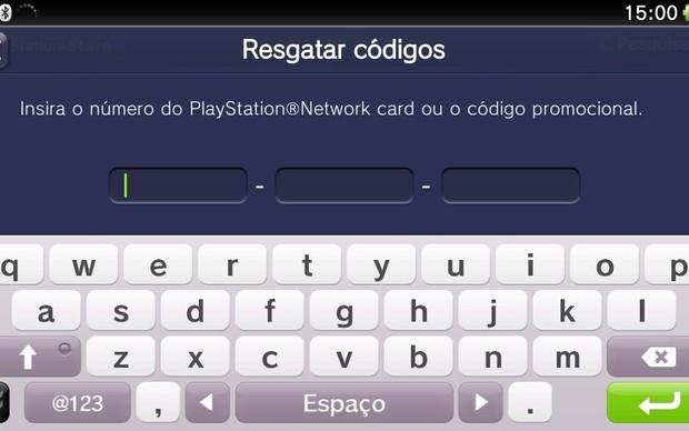Aprenda a usar e resgatar um código do PS Vita (Foto: Reprodução / TechTudo)
