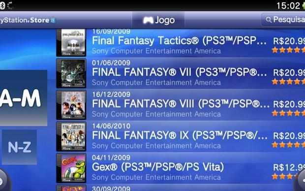how to find psone classics on playstation store
