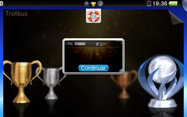 Aprenda como atualizar seus troféus no PS Vita (Foto: Reprodução / TechTudo)