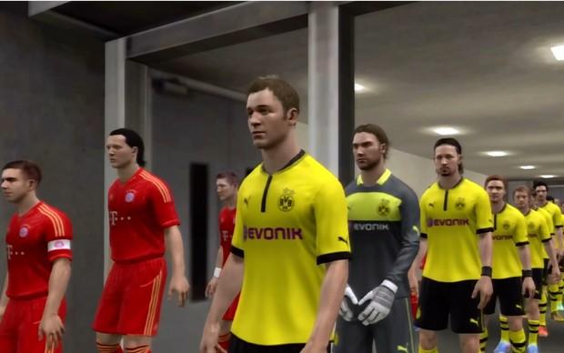 Borussia leva a melhor sobre o Bayer em simulação no game Fifa 13 (Foto: Reprodução / TechTudo)