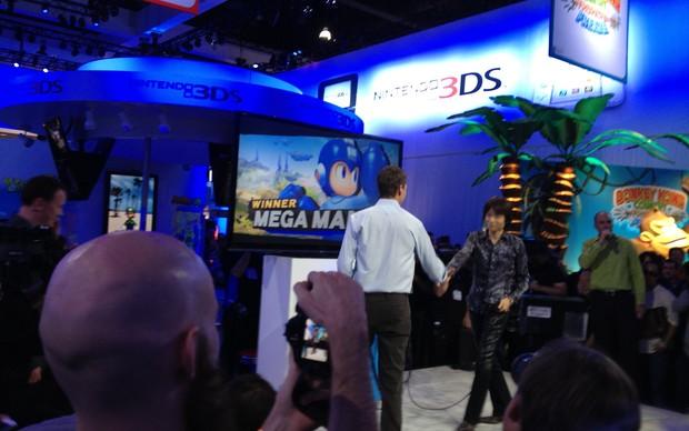 Mega Man é o novo personagem de Super Smash Bros. (Foto: Reprodução / Spencer Stachi)