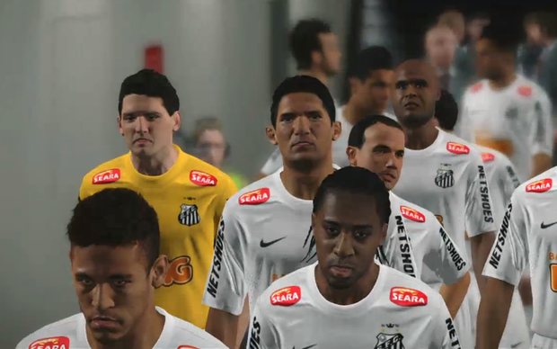 Santos reproduzido em PES 2014 (Foto: Reprodução)