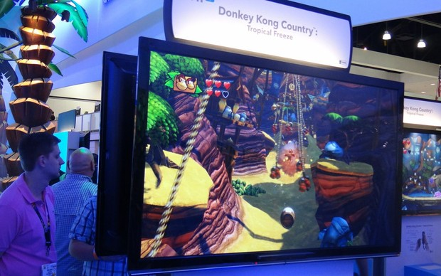 Donkey Kong Country: Tropical Freeze é a nova aventura do gorila da Nintendo (Foto: Renan Dayube / TechTudo)