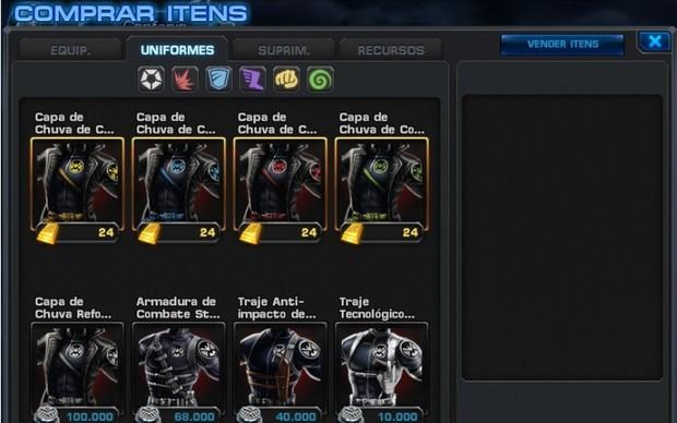 Loja de Marvel Avengers Alliance (Foto: Reprodução)