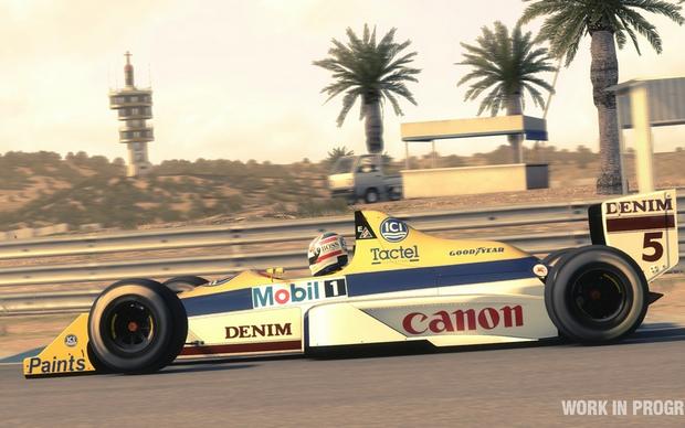 F1 2013 - Nigel Mansell em sua histórica Willians  (Foto: Divulgação)